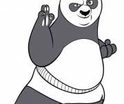 Coloring pages Kung Fu Panda and Po ready for battle