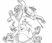 Coloring pages Kung Fu Panda the film