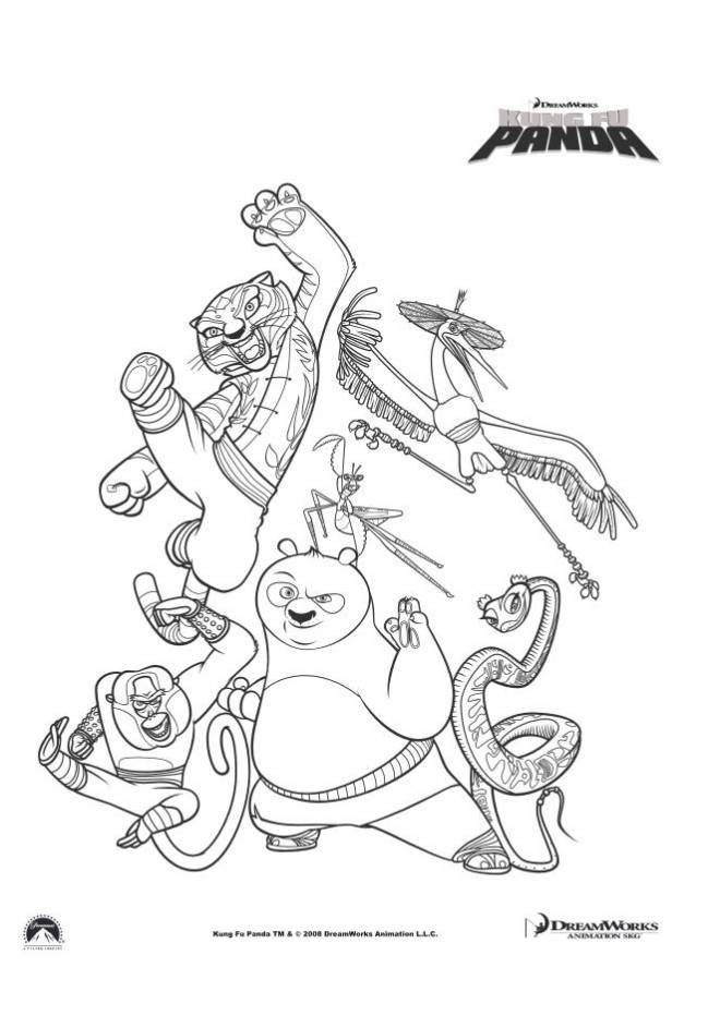 Free coloring and drawings Kung Fu Panda the film Coloring page