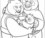 Coloring pages Kung Fu PandaPo and his parents