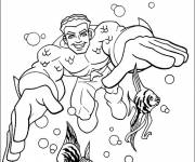 Coloring pages Aquaman Movie Heroes