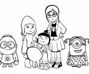 Coloring pages Minions Movie Heroes
