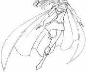 Coloring pages Superwoman Movie Heroes