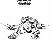 Coloring pages Almighty Ninja Turtle
