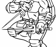 Coloring pages Armed Ninja Turtle
