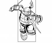Coloring pages Carving Ninja Turtle