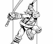 Coloring pages Color Ninja Turtle