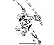 Coloring pages Easy Ninja Turtle