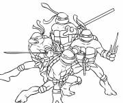 Coloring pages Magic Ninja Turtle