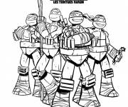 Coloring pages Ninja Turtle Poster