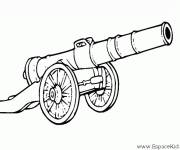 Coloring pages Cannon Pirate