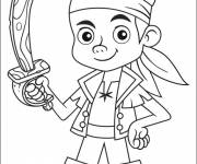 Coloring pages Jack the pirate simple to color