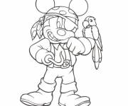 Coloring pages Mickey as a pirate