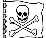 Coloring pages Pirate Flag drawing