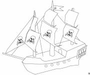 Coloring pages Simple Pirate Ship