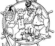 Coloring pages Cartoon popeye