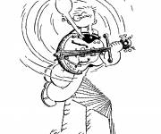 Coloring pages Popeye musician