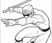Coloring pages Power Rangers and Weapons