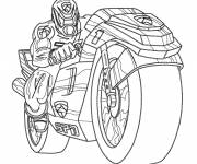 Coloring pages Power Rangers Moto