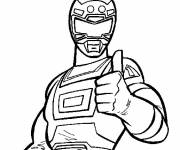 Coloring pages Red Turbo Ranger
