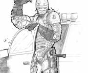 Coloring pages Realistic Robocop