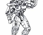 Coloring pages Robocop Equipped