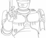 Coloring pages Robocop in color