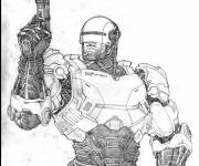 Coloring pages Robocop on computer