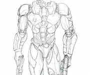 Coloring pages Robocop The Policeman