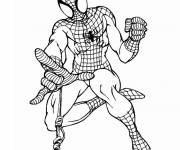 Free coloring and drawings Black and white spiderman Coloring page