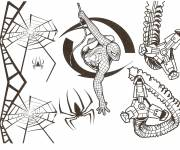 Free coloring and drawings Cutting spiderman Coloring page