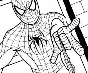Free coloring and drawings Masked spiderman Coloring page