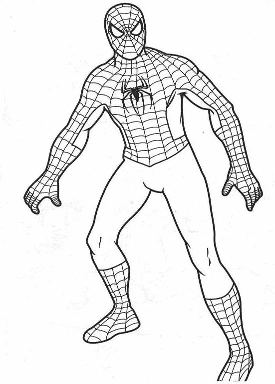 Free coloring and drawings Portrait of spiderman Coloring page