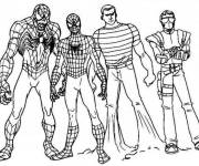 Free coloring and drawings Spiderman Characters Coloring page
