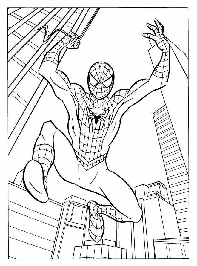 Free coloring and drawings Spiderman Homecoming Coloring page