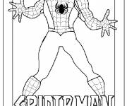 Coloring pages Spiderman image for cutting
