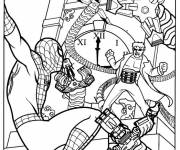 Coloring pages Spiderman Movie Scene
