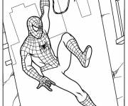 Coloring pages Spiderman on The Walls