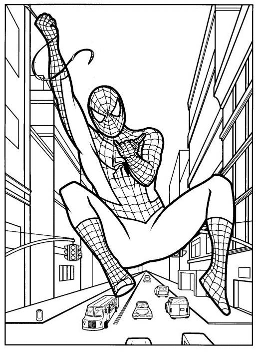 Free coloring and drawings Spiderman web launcher Coloring page