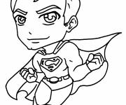Free coloring and drawings Color super man Coloring page