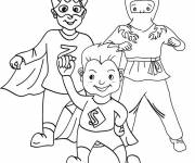 Free coloring and drawings Easy Super Hero Coloring page