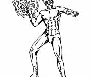 Free coloring and drawings Extraordinary Super Hero Coloring page