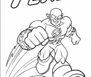 Free coloring and drawings Flash Superhero Coloring page