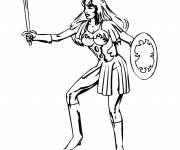 Free coloring and drawings Hero girl Coloring page