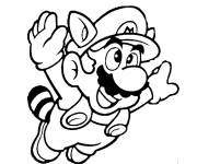 Free coloring and drawings Mario flying Coloring page