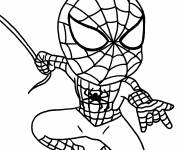 Free coloring and drawings Spiderman hero on the assault Coloring page