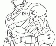 Free coloring and drawings Stylized Iron Man Coloring page