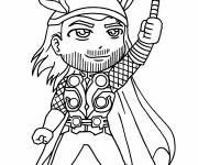 Free coloring and drawings Super hero thor Coloring page