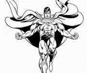 Coloring pages Black and white superman