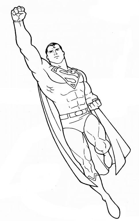 Free coloring and drawings Cutting superman Coloring page